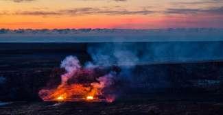 Der aktive Vulkan Kilauea