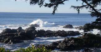 Stürmische Küste am Wild Pacific Trail