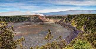 Ein aktiver Krater im Hawaii Volcanoes National Park/Big Island.