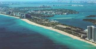 Miami Beach aus der Vogelperspektive.