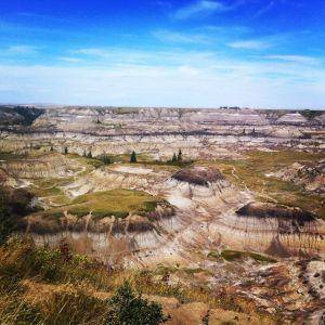 Hoodoos im Dinosaur Provincial Park in den Badlands (copyright Westiwent)