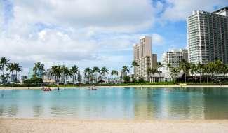Am Waikiki Beach befinden sich oft viele Touristen, trotzdem kann man hier auch entspannen.