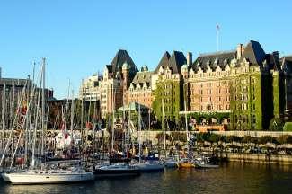 Inner Harbour mit Parlamentsgebäude in Victoria, British Columbia.