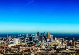 Ein schöner Ausblick auf die Skyline von Atlanta.