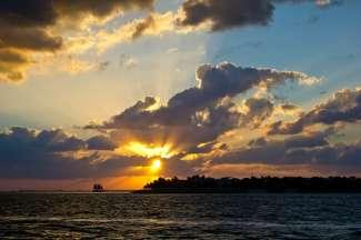 Die Sonnenuntergänge an Floridas Golfküste sind traumhaft schön.