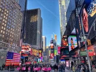 Der Times Square gehört zu den meistbesuchten Plätzen in New York.