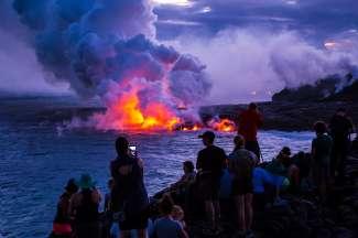Dieser besondere Sonnenuntergang im Volcano Nationalpark wird Ihnen noch lange in Erinnerung bleiben.