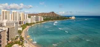 Toller Ausblick auf den berühmten Waikiki Beach.