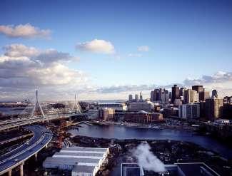 Ein toller Blick auf die Skyline von Boston.