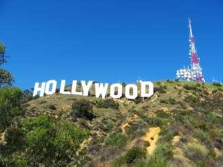 Der weltbekannte Hollywood Schriftzug.