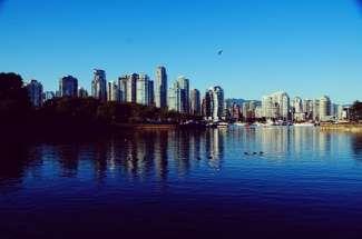 Skyline von Vancouver in British Columbia, Kanada.